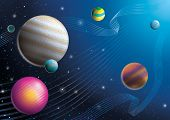 picture of ceres  - illustration of cosmos imagination design and line background - JPG