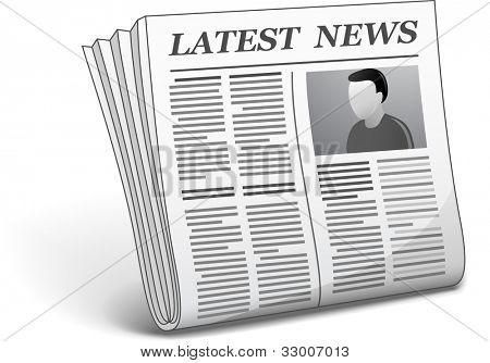 Latest news. Vector illustration of newspaper