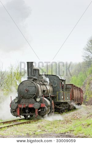 steam freight train (126.014), Resavica, Serbia