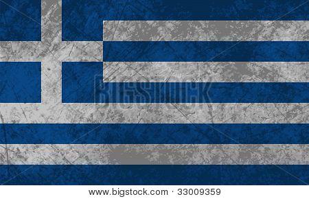 Greek Flag Grunge