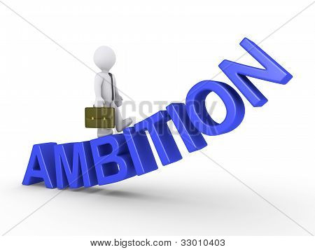 Businessman Walking On Ambition