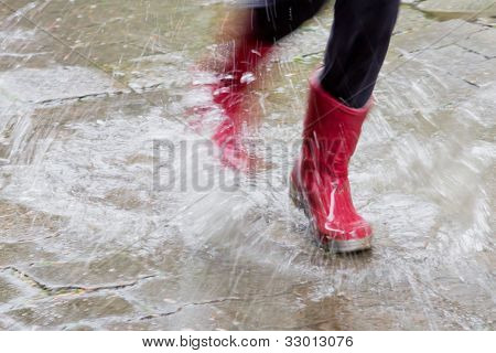 Gum Boots In The Rain
