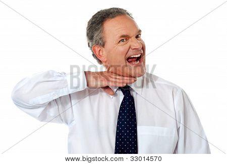 Extremely Annoyed Senior Male Executive