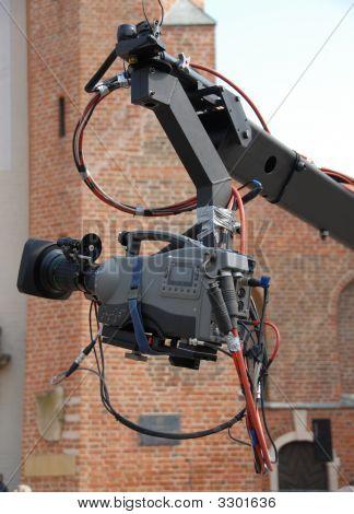 Kamera auf einem Boom-arm