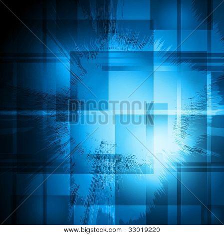 Grunge blue background. Vector illustration eps 10
