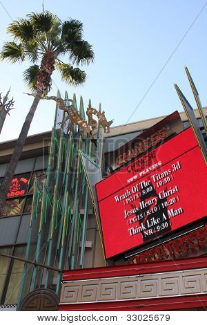LOS ANGELES - MAY 14:  Graumans 6 Theater Marquee  at the