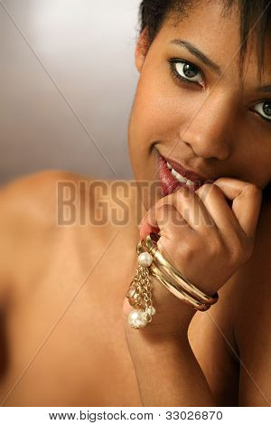 Beautiful Black Female Closeup