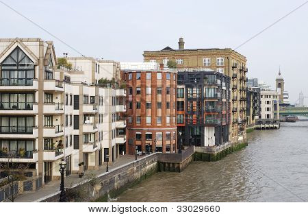 Apartments. River Thames. London. UK