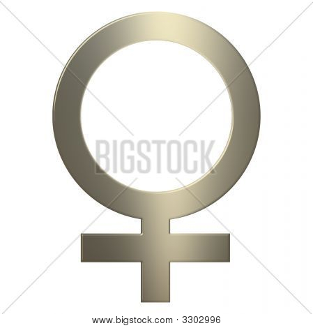 3D Gold Female Synbol