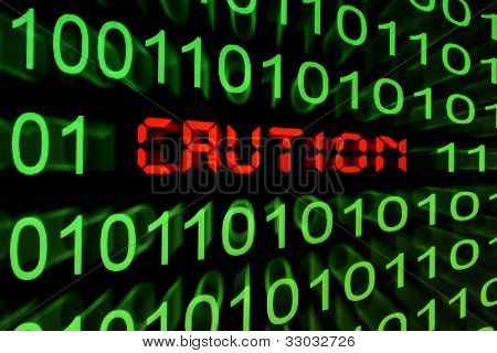 Caution - Monitor Screen
