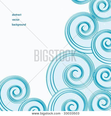 Vector background of abstract blue water waves.