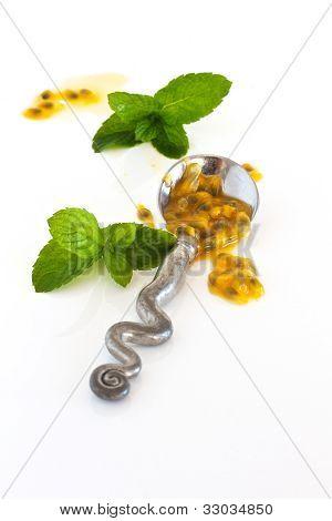 Granadilla Pulp On A Silver Spoon