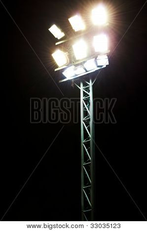 Stadium Lights On A Sports Field