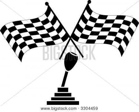 Checkered Flag Two Crossed