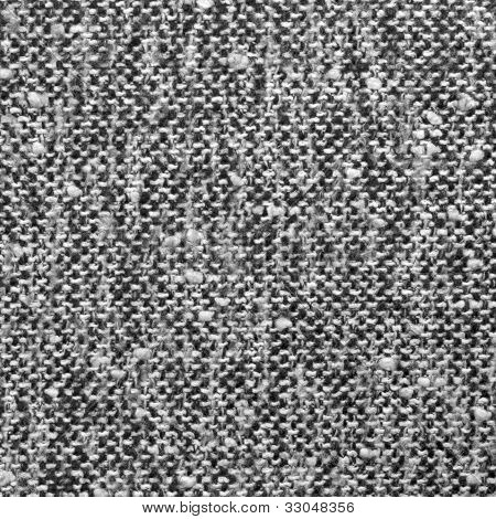 Grey Tweed Texture, Gray Wool Pattern, Textured Salt And Pepper Style Black And White Melange Fabric