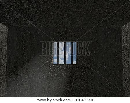 3D jail cell window