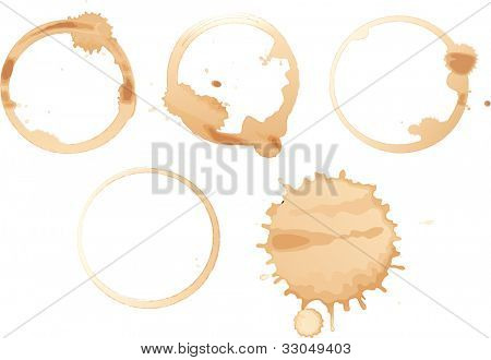Illustration of coffee stains on white - EPS VECTOR format also available in my portfolio.