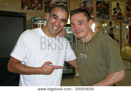 Kostya Tszyu and Sam Soliman
