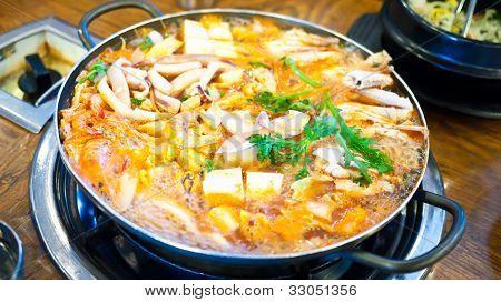 Korean Food Kimchi Soup