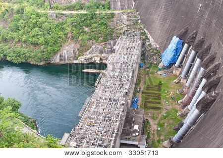 The Bhumibol Dam(formerly Known As The Yanhi Dam) In Thailand.