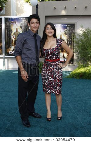 LOS ANGELES, CA - JULY 06:  Bobby Soto; Chelsea Rendon at the premiere of 'The Zookeeper' at the Regency Village Theatre on July 6, 2011 in Los Angeles, California