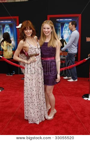 LOS ANGELES - MARCH 6: Caroline Sunshine and Bella Thorne at the World Premiere of 'Mars Needs Moms' held at the El Capitan Theater in Los Angeles, California on March 6, 2011