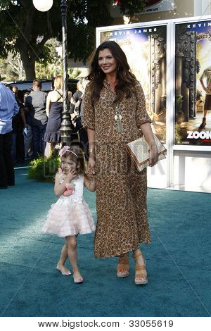 LOS ANGELES, CA - JULY 06:  Ali Landry; daughter Estella at the premiere of 'The Zookeeper' at the Regency Village Theatre on July 6, 2011 in Los Angeles, California