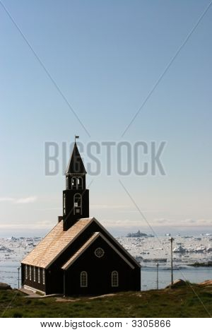 The Church And The Disco Bay In Ilulissat