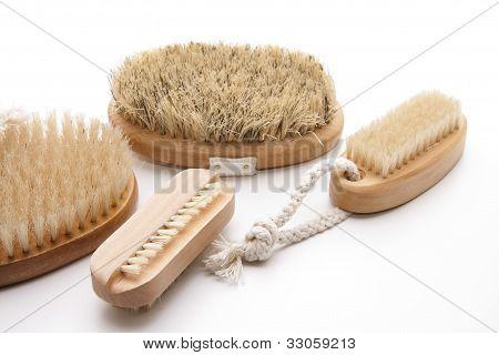 Back brush with hand brush