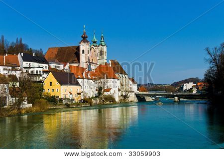 cityscape of the town of steyr. upper austria, austria