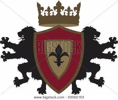 Vector Twin Lion Heraldry