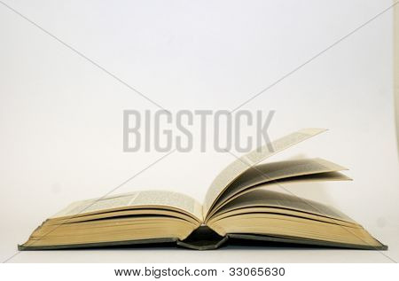 Open Book With Pages Fanning