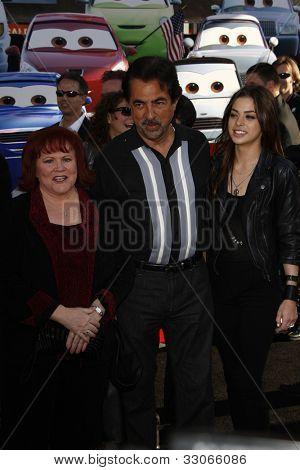 LOS ANGELES - JUNE 18: Edie McClurg; Joe Mantegna; Gia Mantegna at the Premiere of Walt Disney Pictures' 'Cars 2' at the El Capitan Theatre in Los Angeles, California on June 18, 2011.