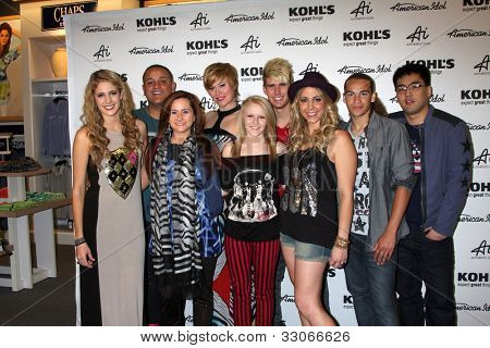 "LOS ANGELES - MAY 16: Magrane, Rosado, Laine, Van Pelt, Cavanagh, Dixon,Testone, Brackensick and Hee Jun Han arrives at the ""Authentic Icon"" Collection For Kohl's on May 16, 2012 in Alhambra, CA"