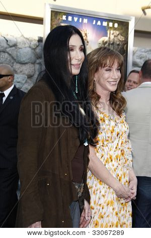 LOS ANGELES, CA - JULY 06:  Kathy Griffin, Cher at the premiere of 'The Zookeeper' at the Regency Village Theatre on July 6, 2011 in Los Angeles, California