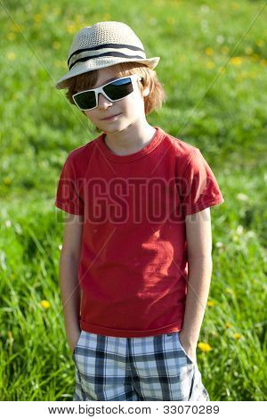 The Fair-haired Boy In Red Shirt