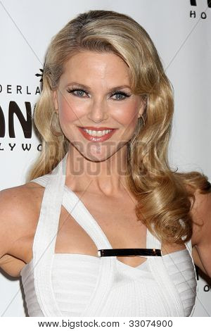 LOS ANGELES - MAY 16:  Christie Brinkley arrives at the Opening Night of the Play