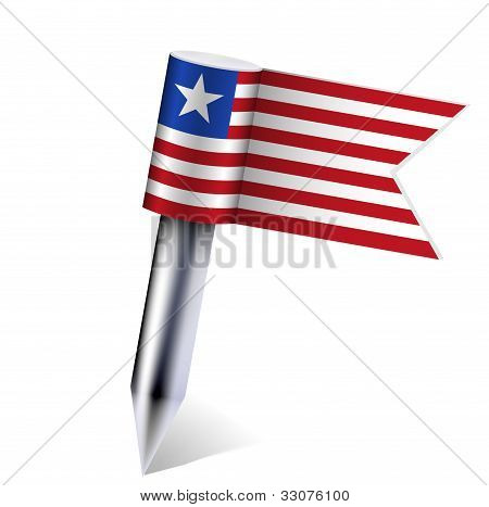 Vector Liberia Flag Isolated On White. Eps10