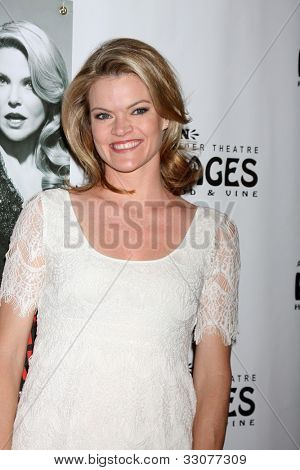 LOS ANGELES - MAY 16:  Missi Pyle arrives at the Opening Night of the Play