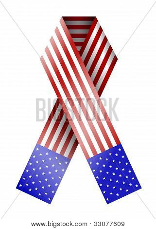 Vector 4Th Of July Ribbon Isolated On White. Eps 10