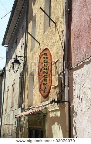 Facade Of A Bakery Shop In Provence