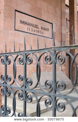 Immanuel Kant, tomb