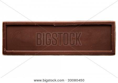 Parte superior de la barra de chocolate fino ve una gran imagen para su trabajo.