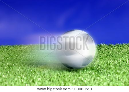 Kicked soccer ball a great image for your job.