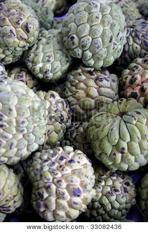 Custard apple also know as Fruta-do-conde in Brazil
