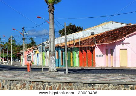 Brazil theme: Colored houses in Porto Seguro
