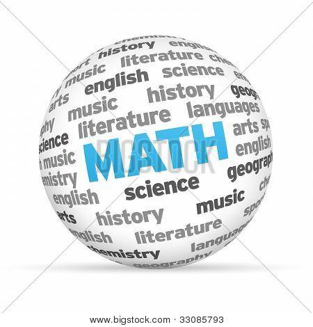 Esfera de palavra de matemática