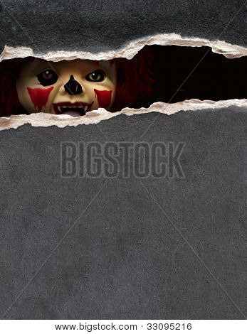 Dark series - a look from darkness. Spooky clown