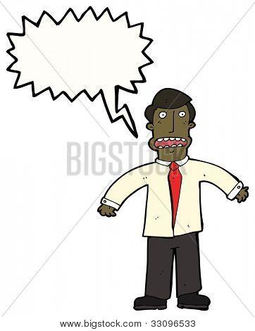 cartoon stressed businessman