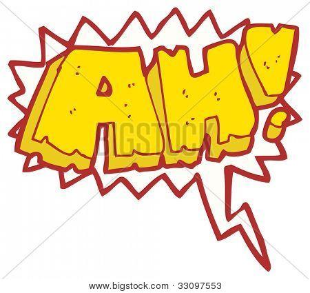 cartoon comic book shout ah!